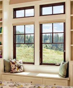 wood window installation