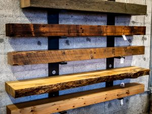 reclaimed timber mantels by salvage works